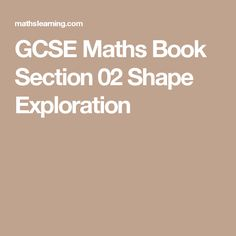 37 best gcse mathematics ebooks mathslearning images on gcse maths revision book section shape exploration practice and improve with us fandeluxe Images