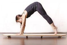 Great SUP Bikerun Yoga exercises on your #IndoYogaBoard from #IndoBoard Master Trainer, Nichola Cummiskey!