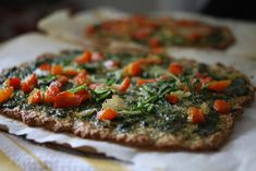 cauliflower crust pizzas by Shannalee | FoodLovesWriting, via Flickr