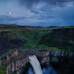 Palouse Falls the night before the supermoon-    Photo Credit- KCVensel Photography