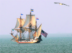 The Kalmar Nyckel, the tall ship of Delaware, will be docked at the Lewes Ferry Terminal public p