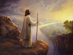 """""""Hope on the Horizon"""" HOPE ON THE HORIZON In the midst of this panoramic vista Christ stands looking to the horizon and to a city which symbolizes Heaven, or the Kingdom of God; the Kingdom of God, meaning not only a place, but a concept, a spiritual... Read More ›"""