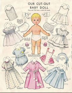 Baby Paper Doll 1960s