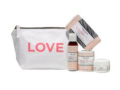 One Love Organics Essentials Travel Kit with LOVEly canvas bag.