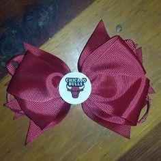 Hairbow Chicago Bulls handmade never been worn