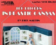 Plastic Canvas Books, Barbie Kitchen, Picnic Set, Barbie Furniture, Valentine Heart, Canvas Patterns, Yarn Needle, Booklet, Fashion Dolls