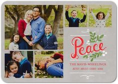 Peaceful Crest - Flat Holiday Photo Cards - Petite Alma - Black : Front