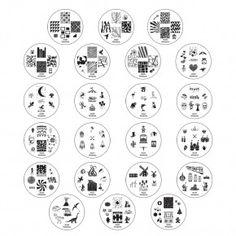 Winstonia Nail-Art Stamping Image Plates Set 2nd Generation 160 images (22 pcs)