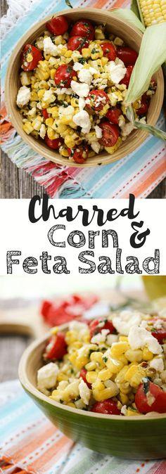 Charred Corn and Feta Salad