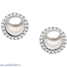 Orecchini con perle e diamanti Comete Gioielli ORP 466 http://www.gioiellivarlotta.it/product.php?id_product=204