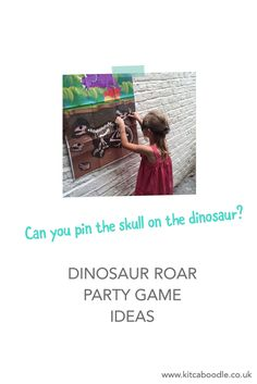 Pin The Skull On The Dinosaur Game | Dinosaur Roar Party Kit | Awesome Party Activities | Dinosaur Party Inspiration | Kit & Caboodle Parties