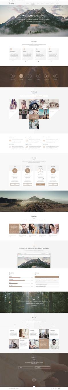 倒金字區 http://www.webdesignserved.com/gallery/Sapona-One-Page-Theme/25047939