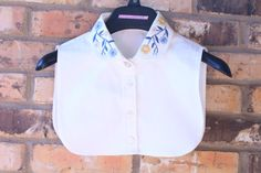 Hand Embroidery Lady Half Shirt  Dickie collar by BazziAndJuki