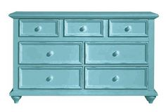 LOVE this turquoise dresser. #nursery