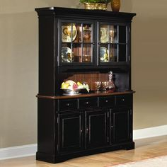 Brooks Furniture 2 piece Classic Heirlooms Hutch Buffet Table, Antique Cherry - Home Furniture Showroom