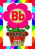 Alpabetong Filipino B Classroom Charts, Classroom Bulletin Boards, Classroom Design, Classroom Decor, Noun Anchor Charts, Alphabet Charts, All Pop, Origami Butterfly, English Reading