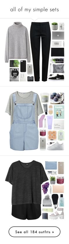"""all of my simple sets"" by feels-like-snow-in-september ❤ liked on Polyvore featuring NIKE, Uniqlo, Chloé, Lux-Art Silks, Stila, NARS Cosmetics, Korres, Alexander Wang, Pier 1 Imports and Rodin"