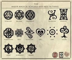 The Major Magical Arts in Tariel