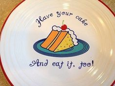 "Fiesta® ""Have Your Cake & Eat It, Too!"" luncheon plate 9"" 