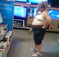 bra lady