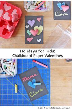 Use chalkboard paper to make sweet DIY Valentines.