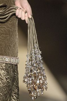 beautiful beaded belt detail by Valentino <3