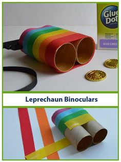 If your kids like going on their own adventures, send them out in search for Leprechauns! Just remember to make these special Leprechaun Binoculars before you go searching. Designer Dawn shows you how to put them together.