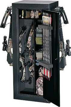 Cabela's: Stack-On Buck Commander Bow Cabinet.......this would be cool to have but it would be a lot of work moving my bow and stuff from there to my case so I could go to practice. Crossbow Hunting, Archery Hunting, Hunting Gear, Deer Hunting, Diy Crossbow, Hunting Knives, Crossbow Arrows, Funny Hunting, Hunting Season