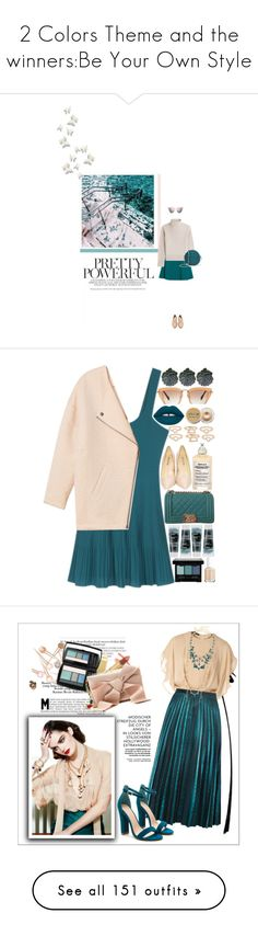 """""""2 Colors Theme and the winners:Be Your Own Style"""" by rainie-minnie ❤ liked on Polyvore featuring Miu Miu, Vanessa Seward, Dolce&Gabbana, Grace, Fendi, Maison Margiela, MANGO, Lime Crime, Korres and Stila"""