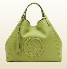 bolso de hombro soho verde Gucci