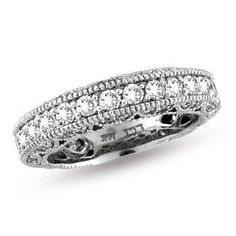 Vintage-style / diamond eternity anniversary band <3