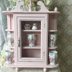 Shabby Wall Cabinet,Hanging Curio,Bathroom,kitchen,Display  Case,Cupboard,Spice Cabinet,nursery,svfteam