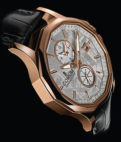 Corum Admiral's Cup Legend 42 Meteorite Dual Time Angleview