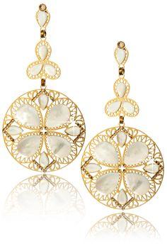 LK DESIGNS ALINE Mother of Pearl Earrings - ACCESSORIES | JEWELRY | Earrings | Pierced | PRET-A-BEAUTE.COM