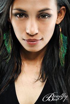 Feathers earings by. Rona Marliana