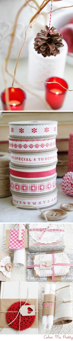 christmas wrap & party ideas! love these!