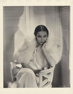 Dolores Del Rio (RKO, 1932)  Silver bromide file print of Dolores Del Rio  from Bird of Paradise by Ernest A. Bachrach.