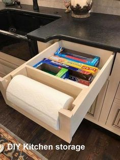 Kitchen Drawer Organization, Small Kitchen Storage, Kitchen Drawers, Small Storage, Functional Kitchen, Interior Design Kitchen, Kitchen Decor, Kitchen Ideas, Kitchen Inspiration