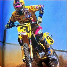 Joel Smets on the big thumper Husaberg!
