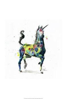 2018/01/21 Unicorn Art Print by Lora Zombie at Art.com