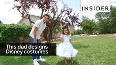 Nephi Garcia: This dad designs the most adorable Disney costumes for his kids Disney Cosplay Costumes, Adult Disney Costumes, Disney Halloween Costumes, Nephi Garcia, Halloween Ball, Disney Art, Walt Disney, Bright Dress, Costume Design