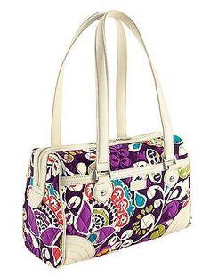 870fabe0f280 Vera Bradley Caroline Satchel in Plum Crazy Vera Bradley Handbags