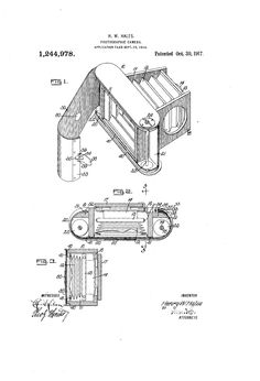 Patent US1244978 - 1917 PHOTOGRAPHIC CAMERA - Google Patents