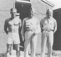 Dick Winters (on the left) with two unidentified men