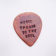Personalized Copper Guitar Pick  Custom Hand by maybugdesign, $22.00