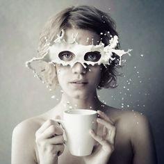 """Stereomilk"", photo manipulation by Ukrainian photographer and designer ""Kassandra"" (Elena Vizerskaya - Елка Визерская)."