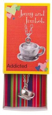 Addicted - Coffee mug necklace