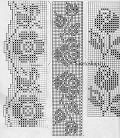 Photo from album nov 2016 6 30 on Filet Crochet Charts, Crochet Borders, Crochet Diagram, Crochet Motif, Crochet Doilies, Crochet Lace, Crochet Stitches, Beaded Cross Stitch, Cross Stitch Borders