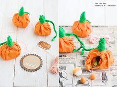 Cómo hacer calabacitas de papel rellenas para Halloween