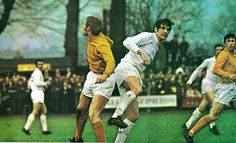 Sutton Utd 0 Leeds Utd 6 in Jan 1970 at Gander Green Lane. Norman Hunter with a header in the FA Cup Round. Norman Hunter, Leeds United Football, Fa Cup, Header, 1970s, January, The Unit, Memories, Club